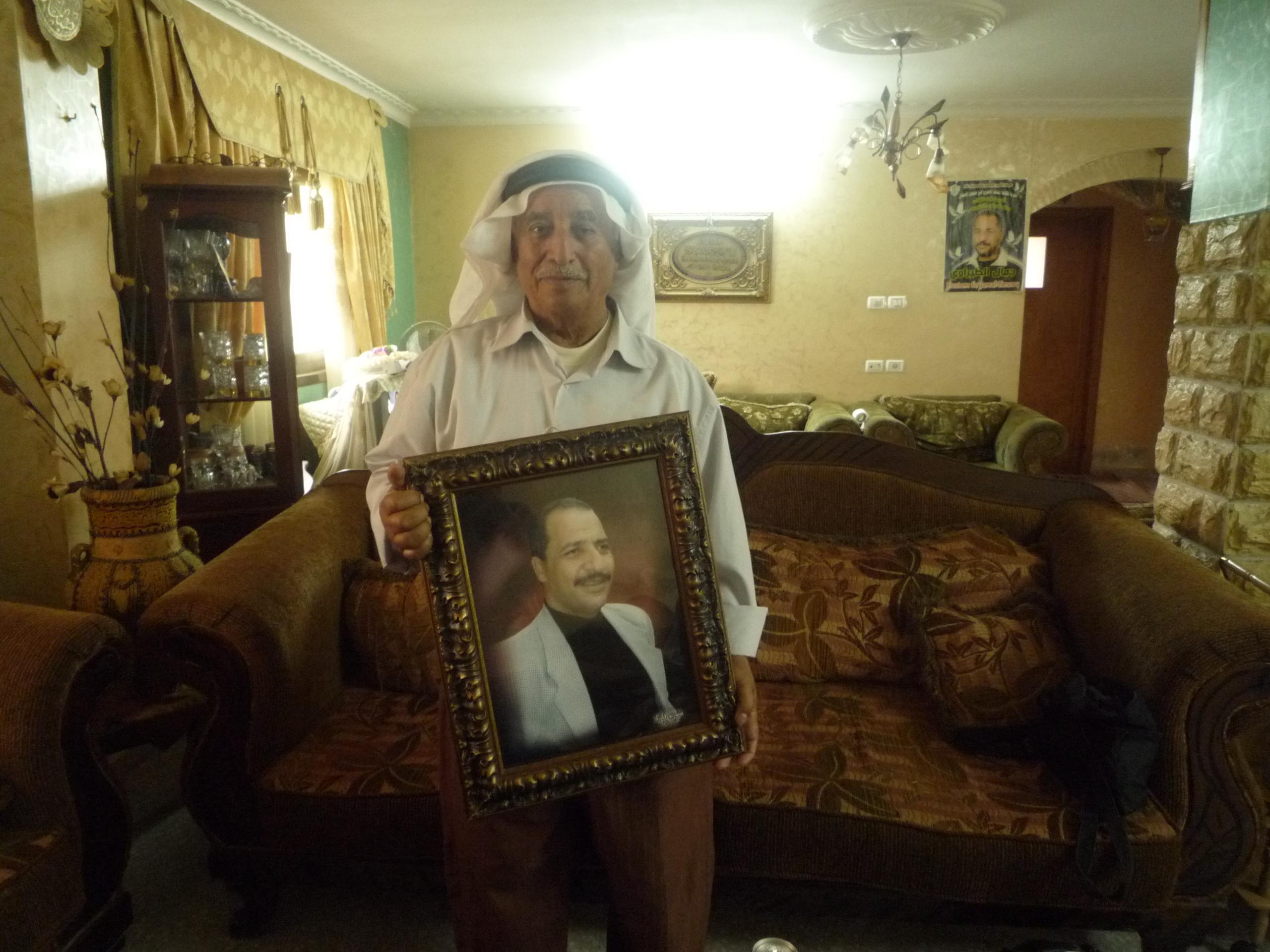 Abdul Amid dans sa maison à Naplouse, Cisjordanie. Mai 2013 www.merblanche.com all rights reserved