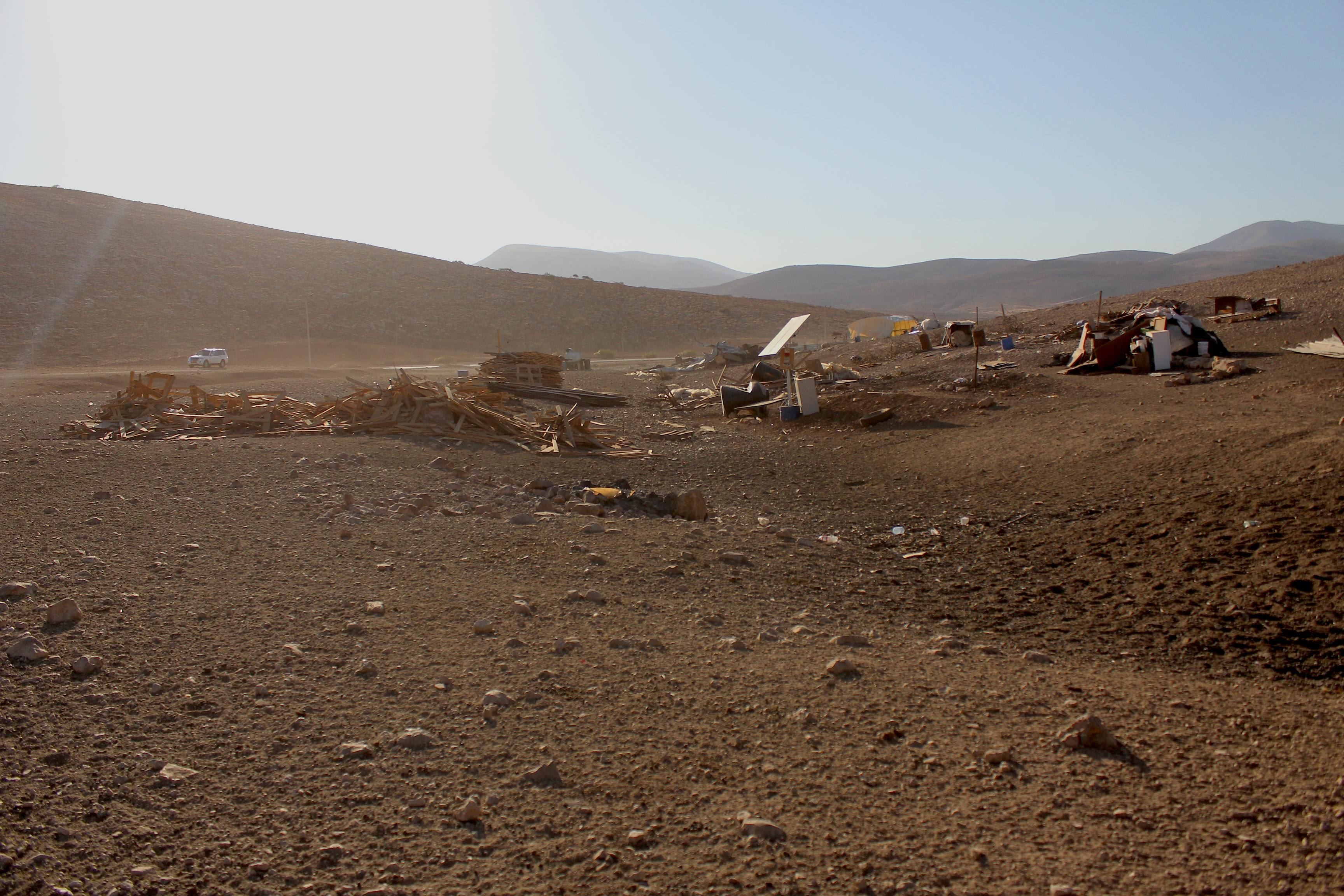 Le village de Makhoul détruit le 16 septembre 2013 par l'armée israélienne www.merblanche.com all rights reserved